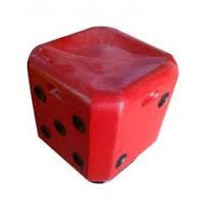 ONLINE FIBRE DICE STOOL RED COLOUR