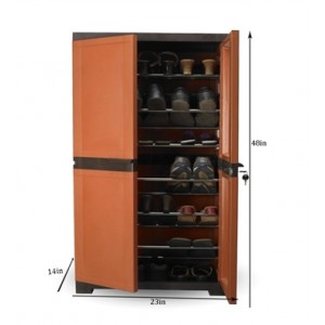 NILKAMAL-PLASTIC-SHOE-RACK-MODEL-FMSC-18-RUST-BROWN