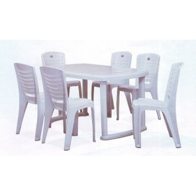 Nill Mega Dining Table Set With Chr 4025 Chairs